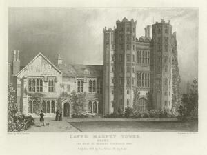 Layer Marney Tower, Essex, the Seat of Mathews Corsellis, Esquire by William Henry Bartlett