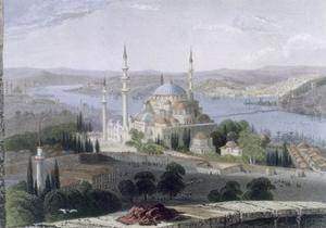 Mosque and Tomb of Suleiman, C.1850 by William Henry Bartlett