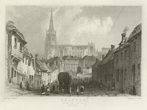Thaxted, from the South, Essex by William Henry Bartlett