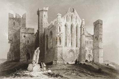 The Rock of Cashel, County Tipperary, Ireland, from 'scenery and Antiquities of Ireland' by…