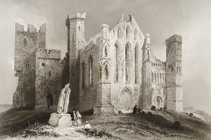 The Rock of Cashel, County Tipperary, Ireland, from 'scenery and Antiquities of Ireland' by… by William Henry Bartlett