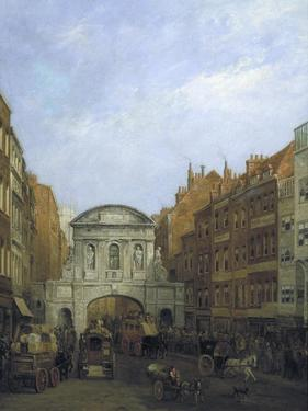 Temple Bar from the Strand, London, 1873 by William Henry Haines