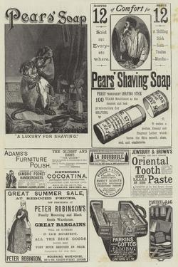 Page of Advertisements by William Henry Hamilton Trood