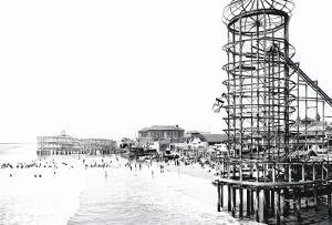 Amusement Park, Long Beach, California by William Henry Jackson