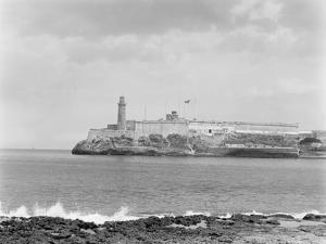 Morro Castle from Cabanas (Sunset), Havana, Cuba by William Henry Jackson