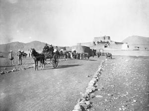 Tum-Tum Carts Head for Khyber Pass by William Henry Jackson