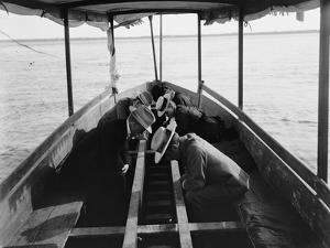 Viewing the Marine Gardens Through Bottom of Boat, Nassau, Bahamas, 1900 by William Henry Jackson