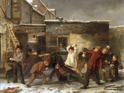 Boys Snowballing, 1853