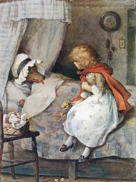 'What Big Eyes You Have, Grandmother!' Said She by William Henry Margetson