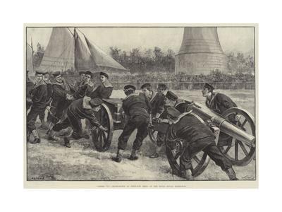 Limber Up! Bluejackets at Field-Gun Drill at the Royal Naval Exhibition