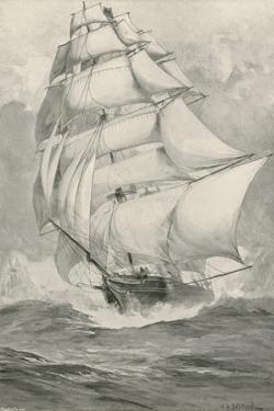 Tea-Clippers Racing from China for the Thames by William Heysham Overend