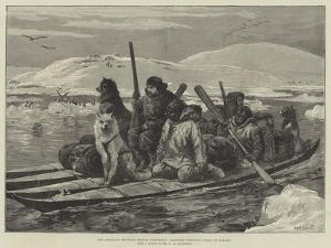The American Franklin Search Expedition, Crossing Simpson's Strait in Kayaks by William Heysham Overend