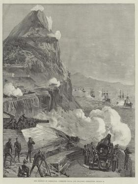 The Defence of Gibraltar, Combined Naval and Military Operations, 13 March by William Heysham Overend