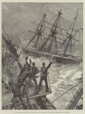 The Disastrous Hurricane in Samoa, Crew of the American Ship Trenton Cheering HMS Calliope by William Heysham Overend