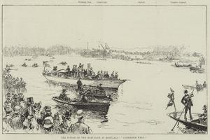 The Finish of the Boat-Race at Mortlake, Cambridge Wins! by William Heysham Overend
