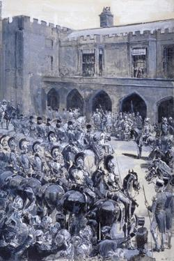 The Proclamation of Queen Victoria at St James's Palace, Westminster, London, 1837 by William Heysham Overend