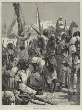 The War in the Soudan, Black Troops Leaving Massowah to Join the Forces at Souakim by William Heysham Overend