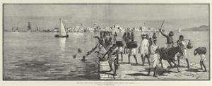 The War in the Soudan, Massowah, from the Second Island, Showing the Causeway by William Heysham Overend