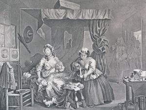 A Harlot's Progress, Plate Three: Apprehended by a Magistrate, 1732 by William Hogarth