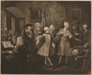 'A Rake's Progress - 2: The Levée', 1733 by William Hogarth