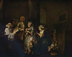 'A Rake's Progress - 5: He Marries', 1733 (1934) by William Hogarth