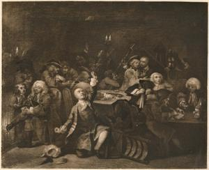 'A Rake's Progress - 6: The Gaming House', 1733 by William Hogarth