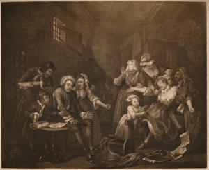 'A Rake's Progress - 7: Fleet Prison', 1733 by William Hogarth