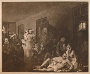 'A Rake's Progress - 8: The Mad House', 1733 by William Hogarth