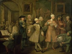 A Rake's Progress II: the Rake's Levee, 1733 by William Hogarth