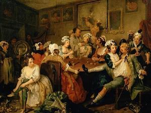 A Rake's Progress III: the Rake at the Rose-Tavern by William Hogarth