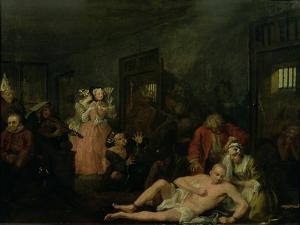 A Rake's Progress VIII: the Rake in Bedlam, 1733 by William Hogarth