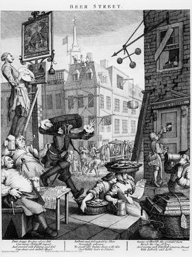 Beer Street, 1751 by William Hogarth