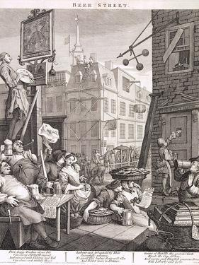 Beer Street, 1751 by William Hogarth