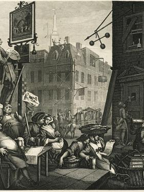 Beer Street and Gin Lane 1, 1751 by William Hogarth
