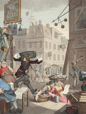 Beer Street, Illustration from 'Hogarth Restored: the Whole Works of the Celebrated William… by William Hogarth