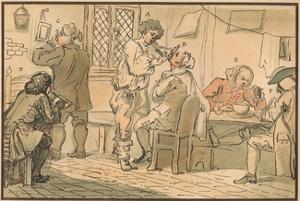 'Breakfast scene from 'The Five Days Peregrination', 1732 by William Hogarth