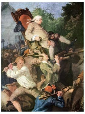 Detail from Chairing the Member, 1755 by William Hogarth