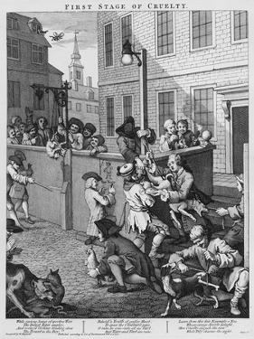 First Stage of Cruelty, 1751 by William Hogarth