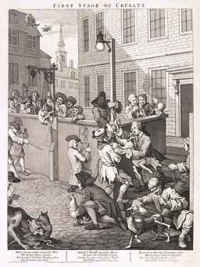 First Stage of Cruelty, Plate I from the Four Stages of Cruelty, 1751 by William Hogarth
