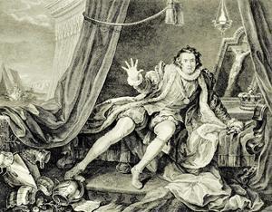 William Hogarth (Garrick in the role of Richard III.) Art Poster Print