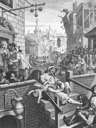 Gin Lane, 1751 by William Hogarth