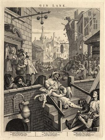 Gin Lane (Beer Street and Gin Lane), 1751 by William Hogarth