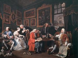 Marriage a La Mode: 1, the Marriage Contract, 1743 by William Hogarth