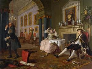 Marriage a La Mode: II - the Tete a Tete, C.1743 by William Hogarth
