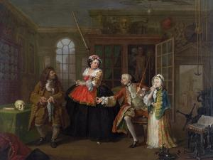 Marriage a La Mode: III - the Inspection, C.1743 by William Hogarth