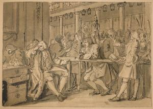 Sketch for 'Industry and Idleness' - Plate X, 1747 by William Hogarth