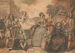 Sketch for 'The Jones Family Conversation Piece', 1730 by William Hogarth