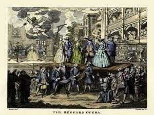 The Beggar's Opera - etching by William Hogarth by William Hogarth