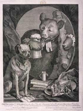 The Bruiser, C. Churchill ... in the Character of a Russian Hercules ..., 1763 by William Hogarth