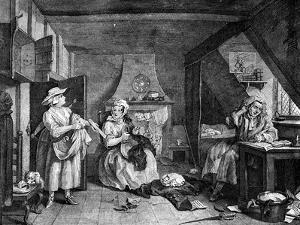 The Distrest Poet, 1740 by William Hogarth